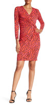 Anne Klein Printed Twisted Drape Dress