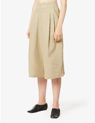 Le Kasha Abadan high-rise wide linen trousers