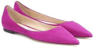 Jimmy Choo Exclusive to Mytheresa Love suede ballet flats