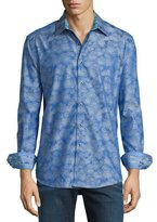 Robert Graham Palmdale Printed Long-Sleeve Sport Shirt