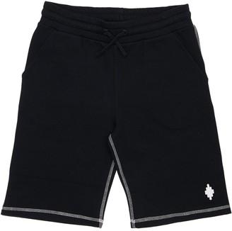 Marcelo Burlon County of Milan Logo Cotton Sweat Shorts