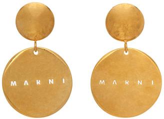Marni Gold Logo Earrings