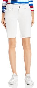 AG Jeans Nikki Denim Bermuda Shorts in 1 Year Tonal White