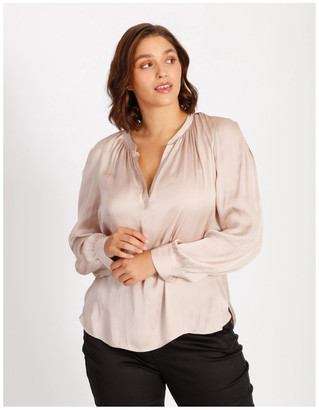 Basque Satin Blouse