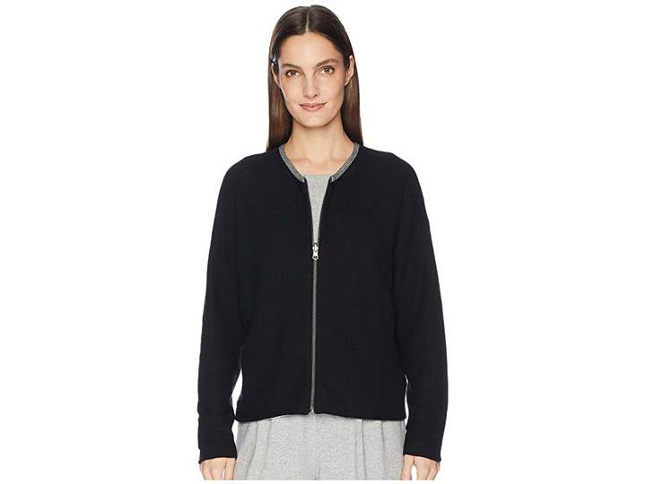 Eileen Fisher Peruvian Organic Cotton Round Neck Cardigan