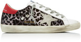 Golden Goose Superstar Distressed Sequined Leather Sneakers