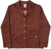 Les Girls Les Boys Mens Printed Classic Pyjama Top Red