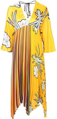 Pinko floral print pleated dress