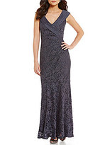Decode 1.8 Portrait Collar Stretch Lace Overlay Gown