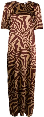 Ganni animal print shift dress