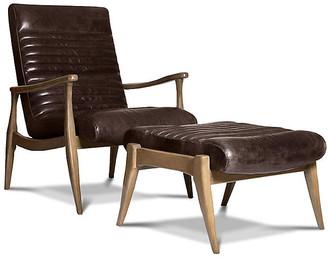 One Kings Lane Erik Accent Chair & Ottoman Set - Espresso
