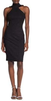 Bebe Double Strap Halter Neck Bodycon Dress