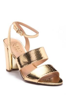 Franco Sarto Haneli Reptile-Embossed Ankle Strap Sandal