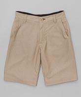 Burnside New Khaki Moto Hybrid Shorts - Boys