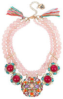 Betsey Johnson Sweet Shop Pink Bead Statement Necklace