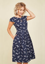 Emily And Fin Unmatched Panache Midi Dress in Airplanes in XXS