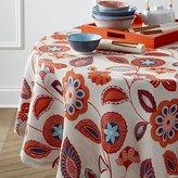 "Crate & Barrel Anju 60"" Round Tablecloth"