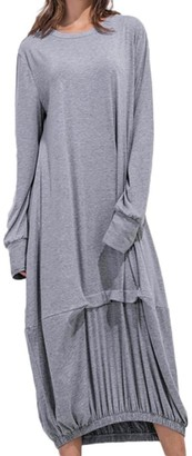 Kobay Dresses for Women v Neck t Shirt Dress Short Sleeve a line midi Dress Ladies Casual Button Down Skater Dress with Pockets Women's Dresses Summer Gray
