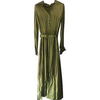 Non Signã© / Unsigned Green Silk Dresses