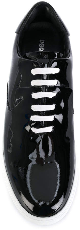 DSQUARED2 varnished lace-up sneakers