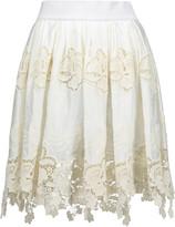 Just Cavalli Crochet-trimmed cotton mini skirt