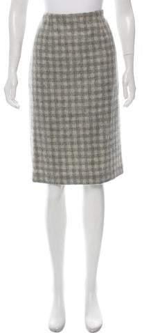 7cef21dfd Gingham Pencil Skirt - ShopStyle