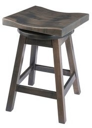 Overstock Saddle-Style Swivel Bar Stool in Quarter Sawn Oak Wood