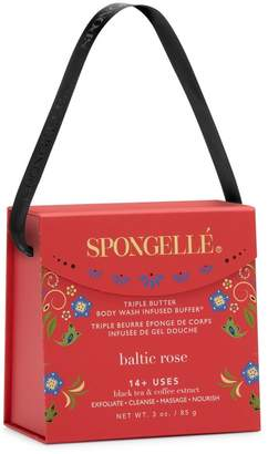 Butter Shoes Spongelle LImited Edition Baltic Rose Triple Body Wash Infused Buffer