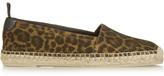 Saint Laurent Leopard-print Brushed-suede Espadrilles - Leopard print
