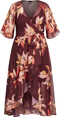City Chic Desert Orchid Wrap Dress