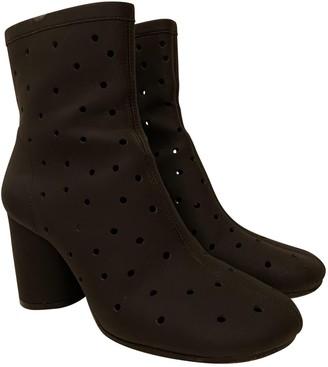 Maison Margiela Black Rubber Ankle boots