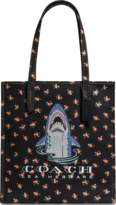 Coach Sharky Tote Bag in Black Canvas