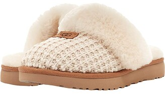 UGG Cozy Knit Slipper (New Cream) Women's Slippers