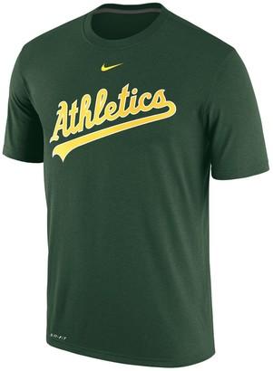 Nike Men's Green Oakland Athletics Legend Primary Logo Performance T-Shirt