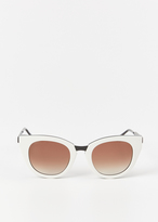 Thierry Lasry white acetate snobby