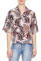 Sandro Palmas Printed Silk Shirt