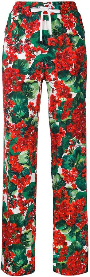 Dolce & Gabbana floral print track trousers