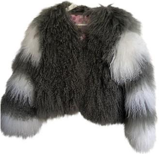 CHARLOTTE SIMONE Grey Shearling Jackets