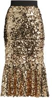 Dolce & Gabbana Sequin-embellished midi skirt