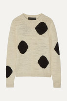 The Elder Statesman Intarsia Cashmere Sweater - Cream