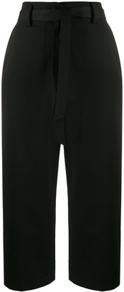 Barena Cotton Tie-Waist Cropped Trousers