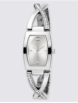 M&S Collection Diamanté Criss-Cross Bracelet Watch