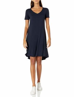 Daily Ritual Amazon Brand Women's Jersey Short-Sleeve V-Neck Dress