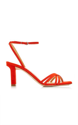 AEYDĒ Annabelle Snake-Effect Suede-Leather Sandals