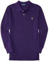 Ralph Lauren Mesh Long-Sleeve Polo