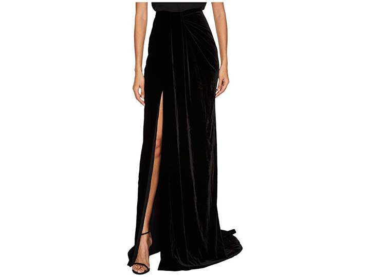 Marchesa Draped Velvet Sarong Skirt Women's Skirt