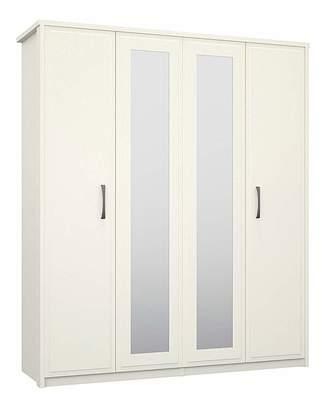 Marisota Lucille 4 Door Mirrored Wardrobe