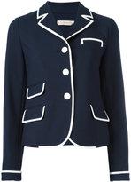 Tory Burch contrast trim blazer