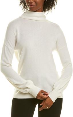 Forte Cashmere Mock Button Back Cashmere Sweater
