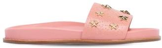 Aquazzura Studded Leather Slide Sandals
